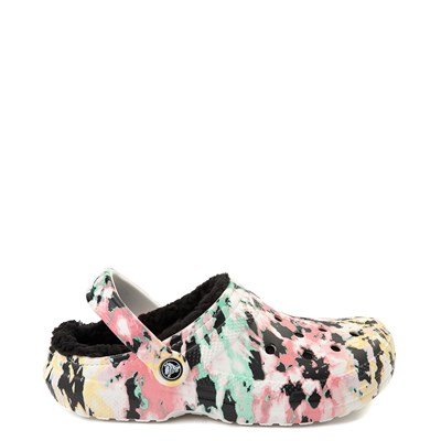 Main view of Crocs Classic Fuzz-Lined Tie Dye Clog