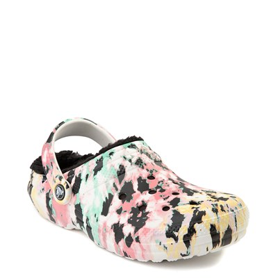 Alternate view of Crocs Classic Fuzz-Lined Tie Dye Clog - Multi