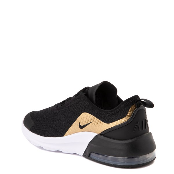 alternate view Nike Air Max Motion 2 Athletic Shoe - Big Kid - Black / Gold / WhiteALT2