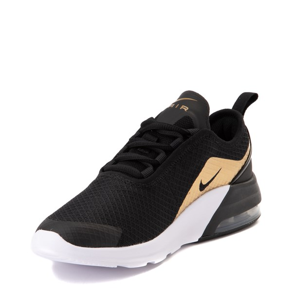 alternate view Nike Air Max Motion 2 Athletic Shoe - Big Kid - Black / Gold / WhiteALT3
