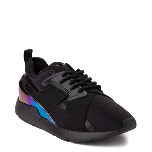alternate view Womens Puma Muse X-2 Athletic Shoe - Black / IridescentALT1