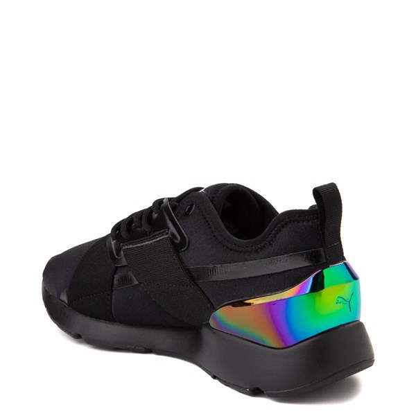alternate view Womens Puma Muse X-2 Athletic Shoe - Black / IridescentALT2
