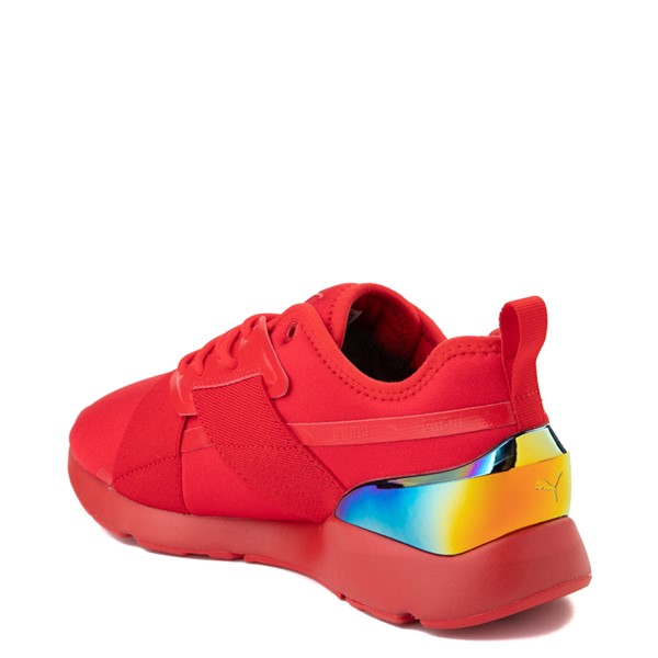 alternate view Womens Puma Muse X-2 Athletic Shoe - Red / IridescentALT1
