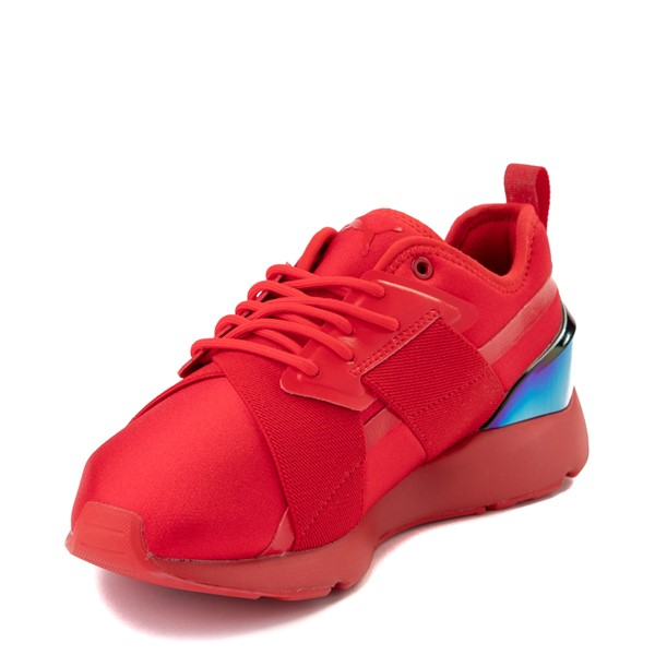 alternate view Womens Puma Muse X-2 Athletic Shoe - Red / IridescentALT2