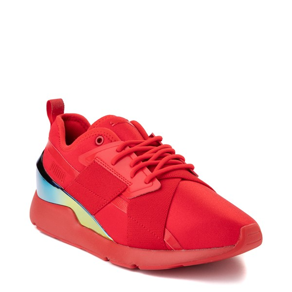 alternate view Womens Puma Muse X-2 Athletic Shoe - Red / IridescentALT5