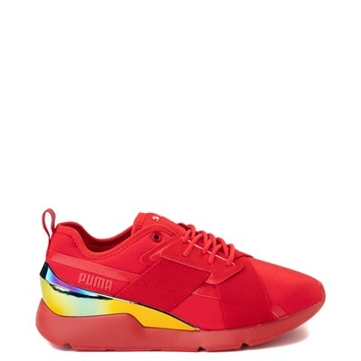 Main view of Womens Puma Muse X-2 Athletic Shoe - Red / Iridescent