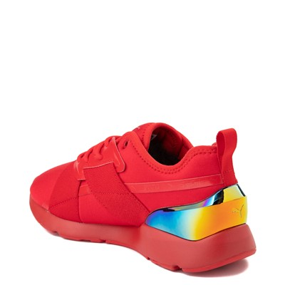 Alternate view of Womens Puma Muse X-2 Athletic Shoe - Red / Iridescent