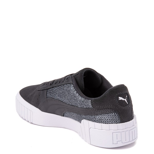 alternate view Womens Puma Cali Sequins Athletic Shoe - GrayALT1
