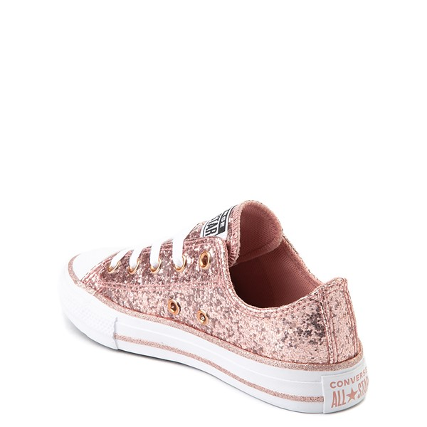 alternate view Converse Chuck Taylor All Star Lo Glitter Sneaker - Little Kid - Rose GoldALT1