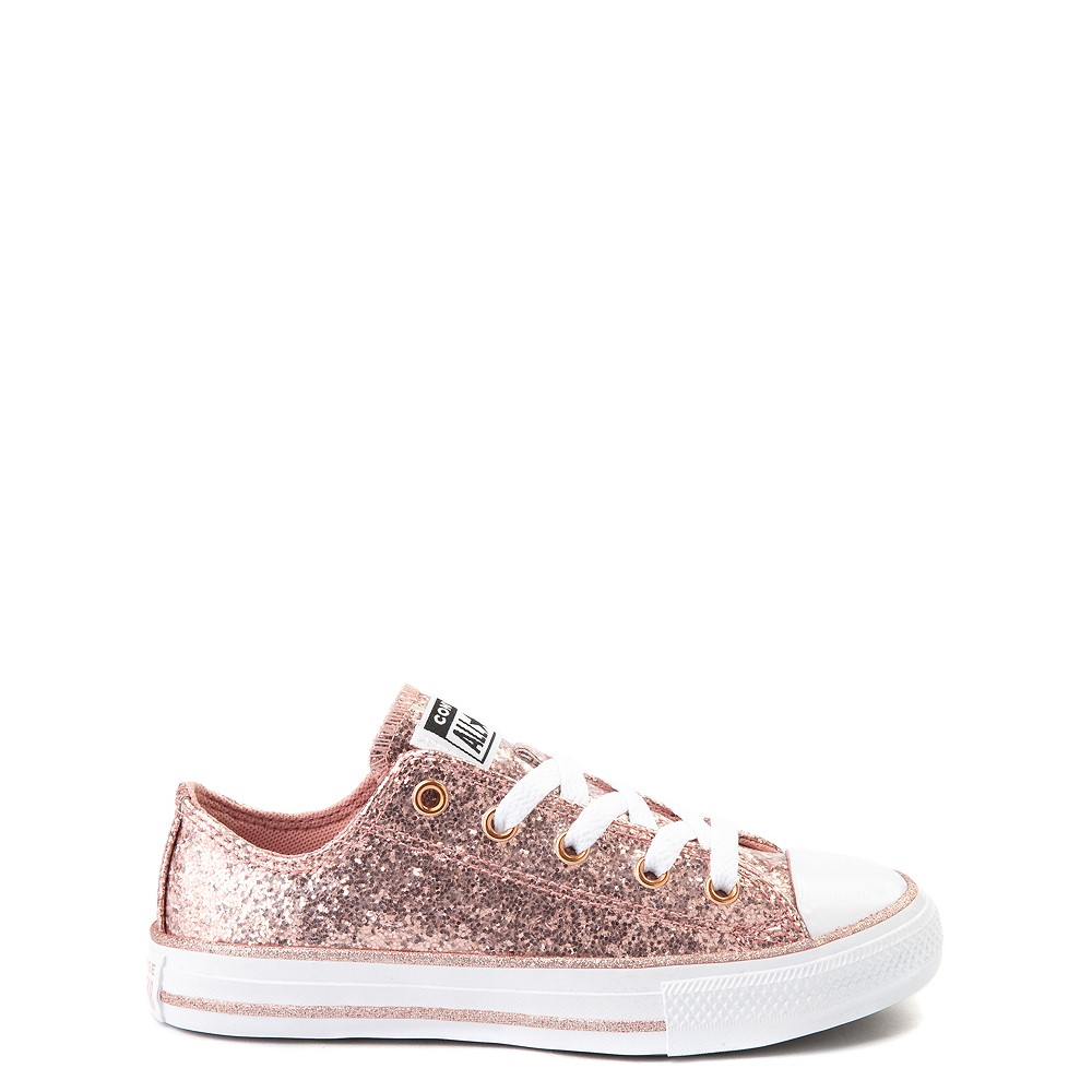 Converse Chuck Taylor All Star Lo Glitter Sneaker - Little Kid - Rose Gold
