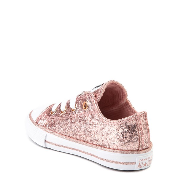 alternate view Converse Chuck Taylor All Star Lo Glitter Sneaker - Baby / Toddler - Rose GoldALT2