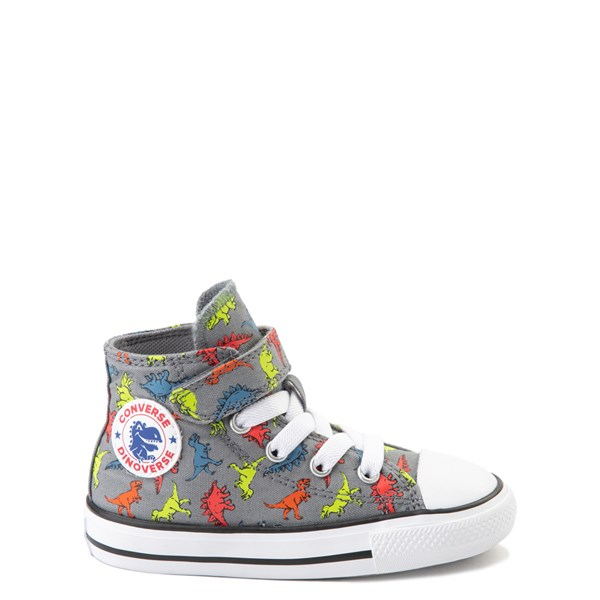 Converse Chuck Taylor All Star 1V Hi Dinoverse Sneaker - Baby / Toddler - Gray / Multi
