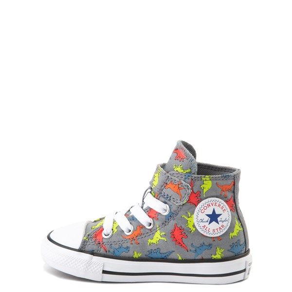 alternate view Converse Chuck Taylor All Star 1V Hi Dinoverse Sneaker - Baby / Toddler - Gray / MultiALT1