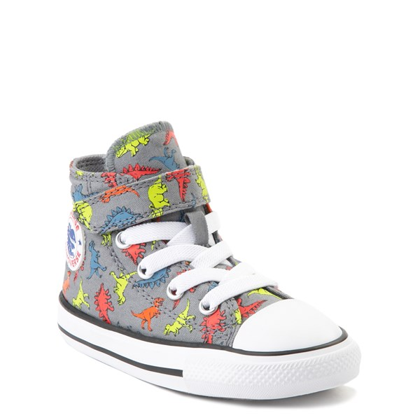 alternate view Converse Chuck Taylor All Star 1V Hi Dinoverse Sneaker - Baby / Toddler - Gray / MultiALT1B