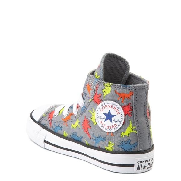 alternate view Converse Chuck Taylor All Star 1V Hi Dinoverse Sneaker - Baby / Toddler - Gray / MultiALT2