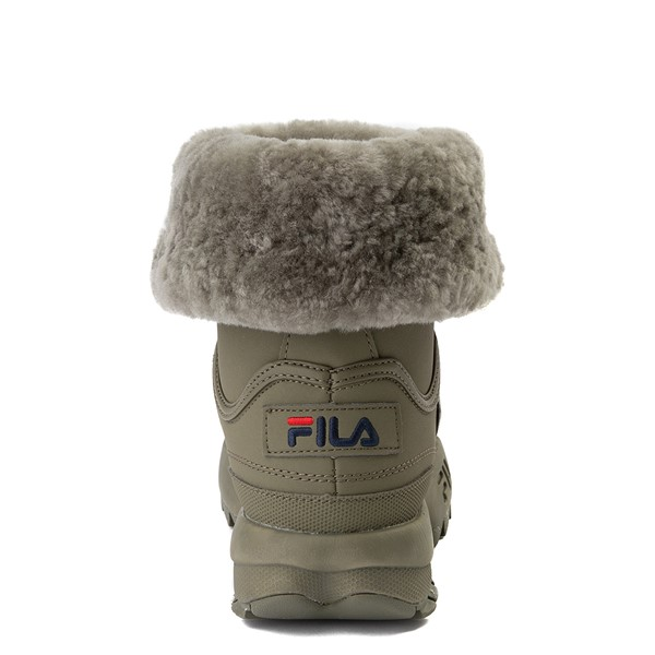 alternate view Womens Fila Disruptor Shearling Boot - OliveALT4