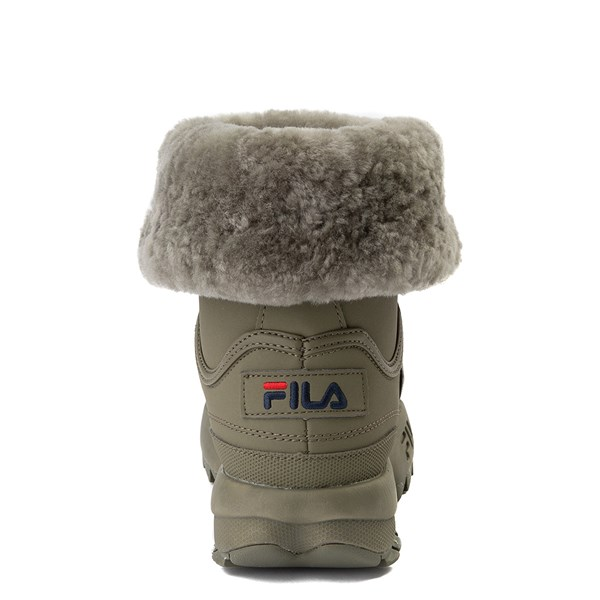 alternate view Womens Fila Disruptor Shearling Boot - OliveALT6