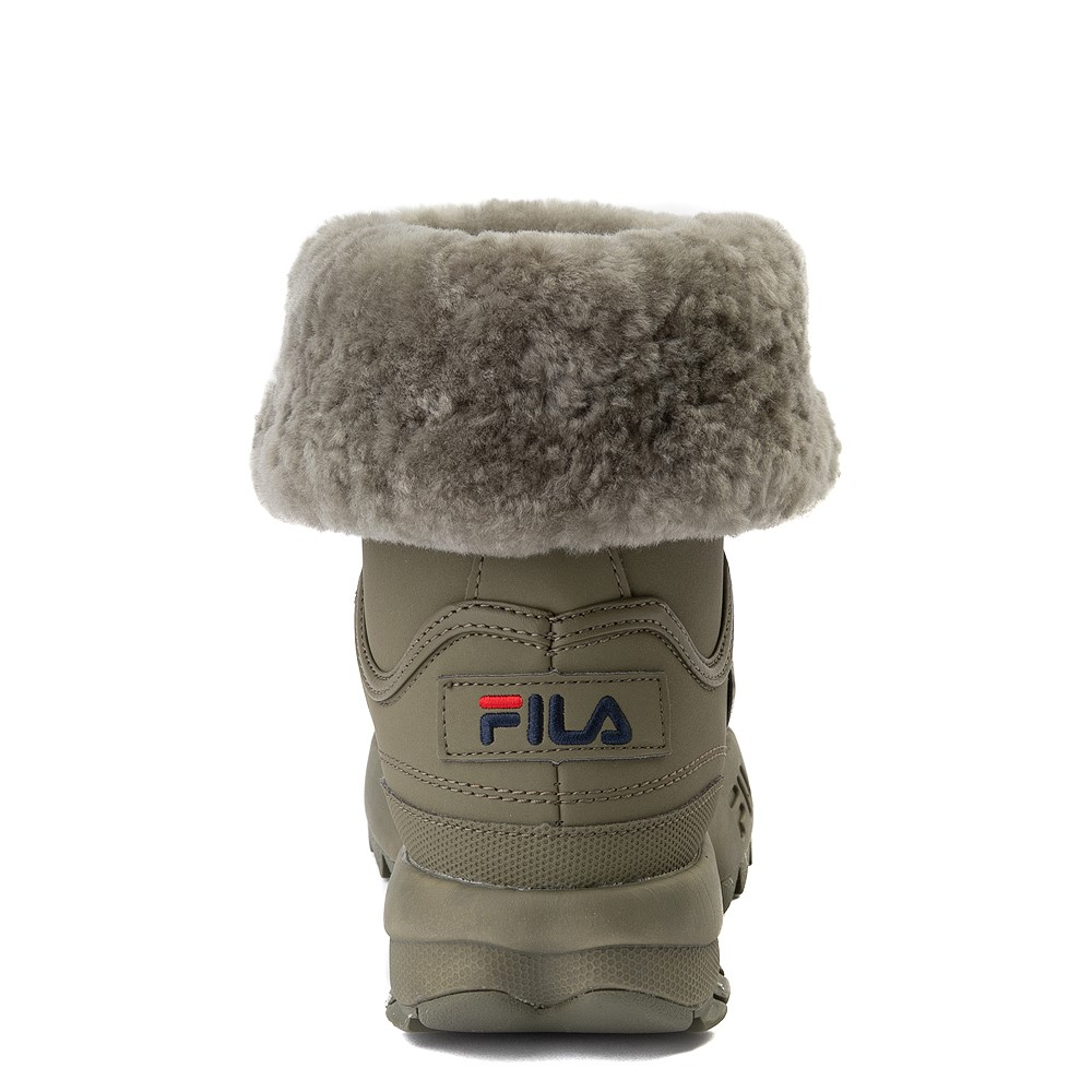 Womens Fila Disruptor Shearling Boot