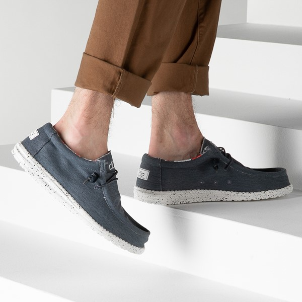 alternate view Mens Hey Dude Wally Stretch Casual Shoe - BlueB-LIFESTYLE1