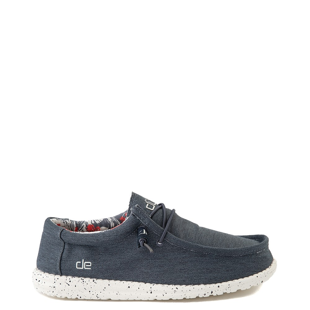 Mens Hey Dude Wally Stretch Casual Shoe - Blue