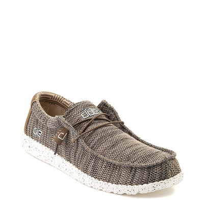 Alternate view of Mens Hey Dude Wally Sox Casual Shoe - Brown