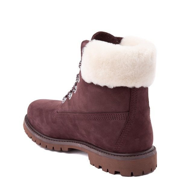 "alternate view Womens Timberland 6"" Premium Shearling Collar Boot - Dark PurpleALT2"