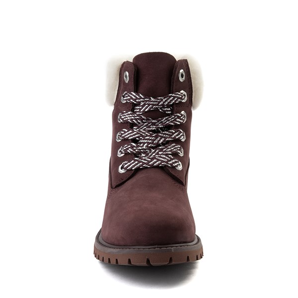 "alternate view Womens Timberland 6"" Premium Shearling Collar Boot - Dark PurpleALT4"