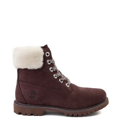 "Main view of Womens Timberland 6"" Premium Shearling Collar Boot - Dark Purple"