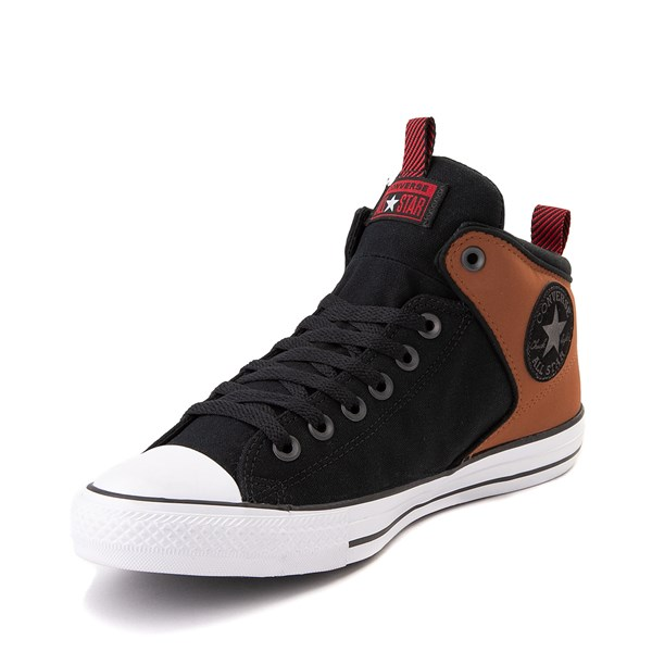 alternate view Converse Chuck Taylor All Star High Street Sneaker - Black / Warm TanALT3