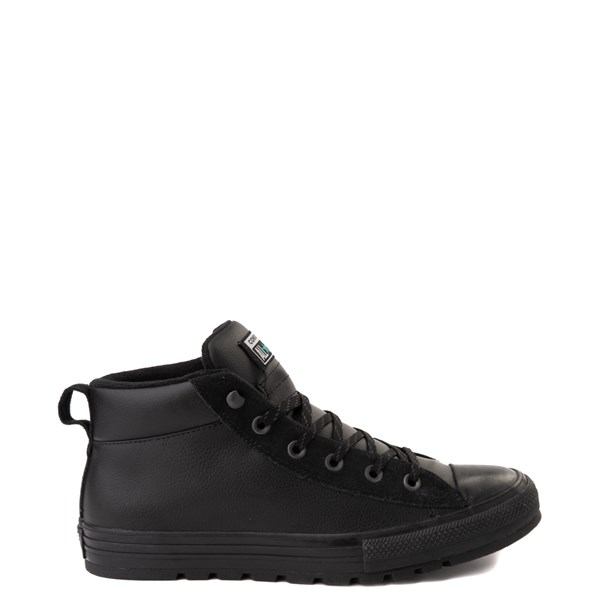 Converse Chuck Taylor All Star Street Mid Leather Sneaker - Black