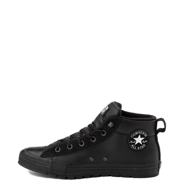 alternate view Converse Chuck Taylor All Star Street Mid Leather Sneaker - BlackALT1