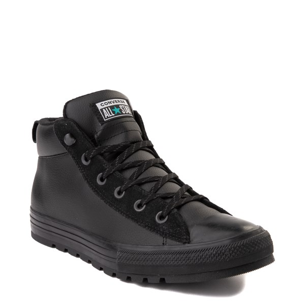 alternate view Converse Chuck Taylor All Star Street Mid Leather Sneaker - BlackALT1B