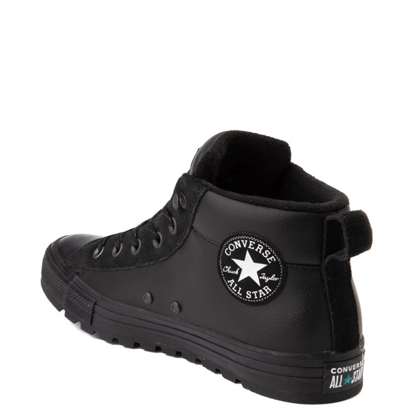 alternate view Converse Chuck Taylor All Star Street Mid Leather Sneaker - BlackALT2