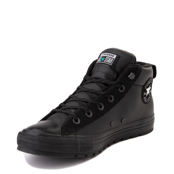 alternate view Converse Chuck Taylor All Star Street Mid Leather Sneaker - BlackALT3