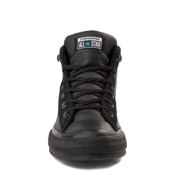 alternate view Converse Chuck Taylor All Star Street Mid Leather Sneaker - BlackALT4