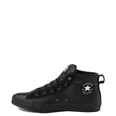 Alternate view of Converse Chuck Taylor All Star Street Leather Mid Sneaker - Black