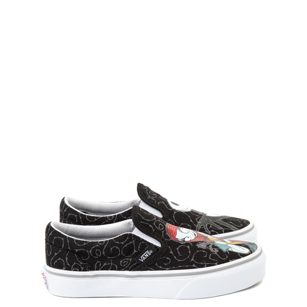alternate view Vans x The Nightmare Before Christmas Slip On Jack & Sally Skate Shoe - Little Kid / Big Kid - BlackALT1
