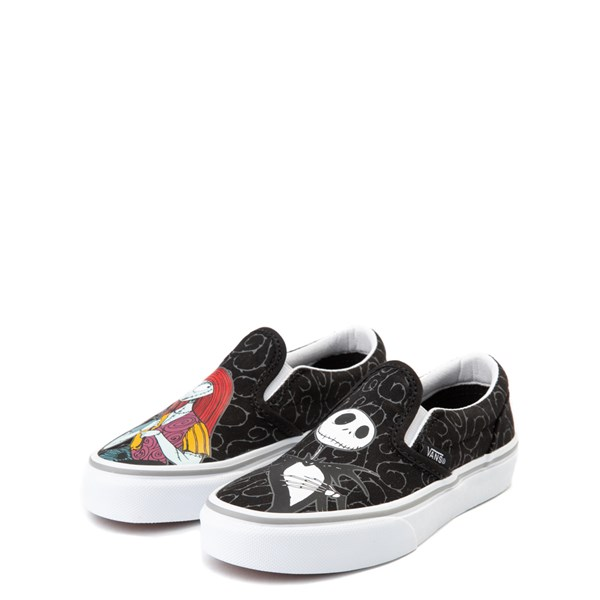 alternate view Vans x The Nightmare Before Christmas Slip On Jack & Sally Skate Shoe - Little Kid / Big Kid - BlackALT3