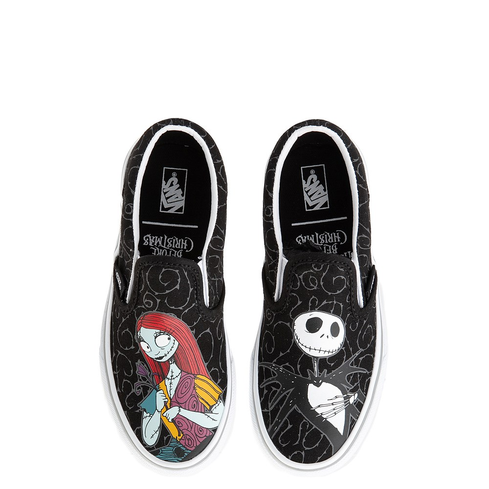 Vans x The Nightmare Before Christmas Slip On Jack & Sally Skate Shoe - Little Kid / Big Kid - Black