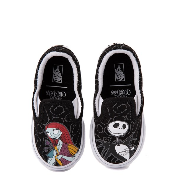 Vans x The Nightmare Before Christmas Slip On Jack & Sally Skate Shoe - Baby / Toddler - Black