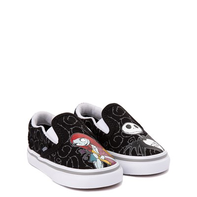 Alternate view of Vans x The Nightmare Before Christmas Slip On Jack & Sally Skate Shoe - Baby / Toddler - Black