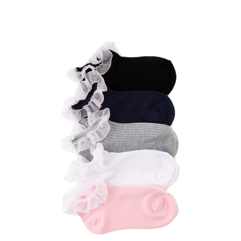 Ruffle Quarter Socks 5 Pack - Girls Little Kid