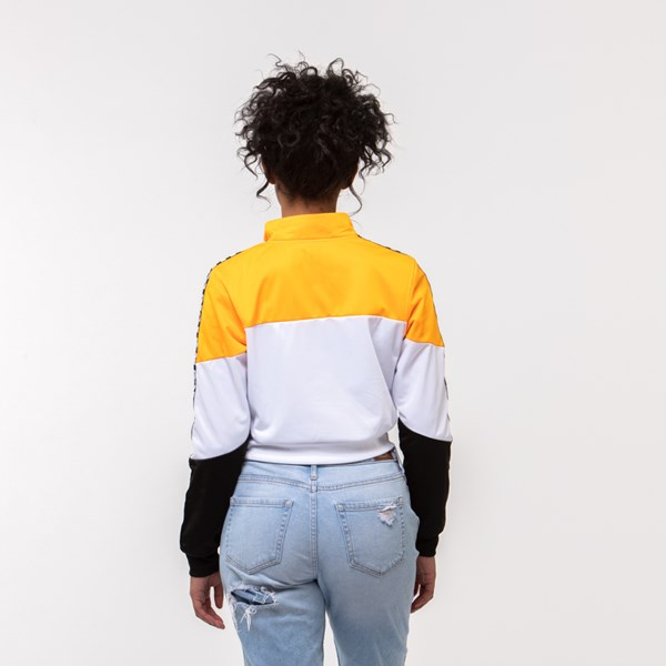 alternate view Womens Vans Olympic Track Jacket - Zinnia Yellow / White / BlackALT1