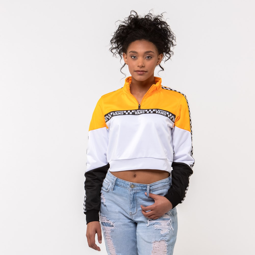 Womens Vans Olympic Track Jacket - Zinnia Yellow / White / Black