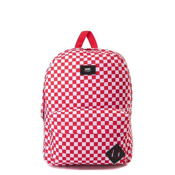Vans Old Skool Checkerboard Backpack - Red / White