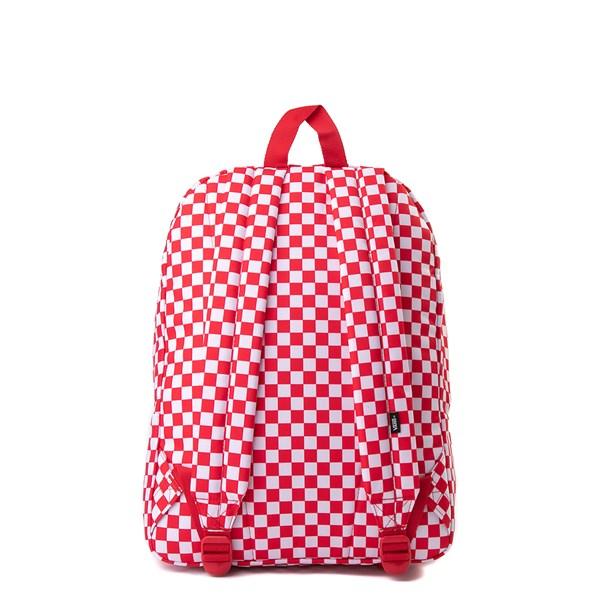alternate view Vans Old Skool Checkerboard Backpack - Red / WhiteALT1