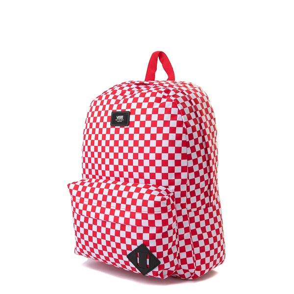 alternate view Vans Old Skool Checkerboard Backpack - Red / WhiteALT2