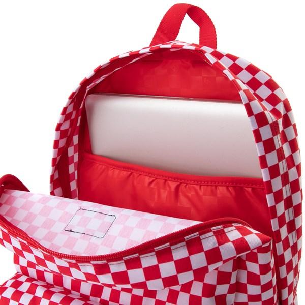 alternate view Vans Old Skool Checkerboard Backpack - Red / WhiteALT3