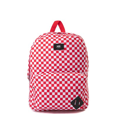 Main view of Vans Old Skool Checkerboard Backpack - Red / White