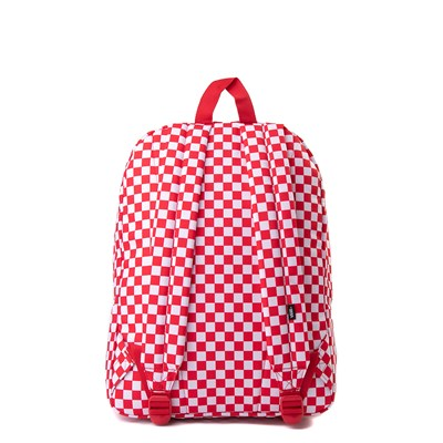 Alternate view of Vans Old Skool Checkerboard Backpack - Red / White